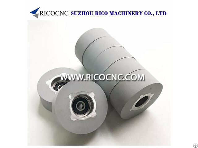 Rubber Pressure Roller Wheels With Bearing For Edgebanders Machine