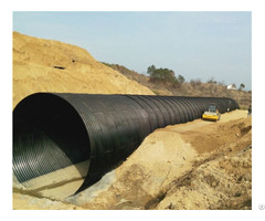 Hot Dipped Plastic Coating Steel Corrugated Pipe