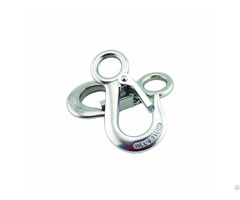 G100 High Load Bearing Eye Crane Spreader Hook With Latch