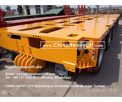Compatible Goldhofer Type Hydraulic Multi Axle Platform Vehicle Modular Trailer