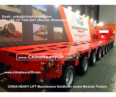 Hydraulic Platform Trailers Multi Axle Goldhofer Modules