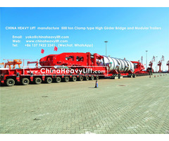 Chinaheavylift 500 Ton High Girder Bridge For Goldhofer Model Modular Trailer