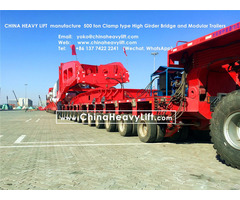Chinaheavylift Manufacture Modular Trailers And 500 Ton Girder Bridge Compatible Goldhofer Thp Sl