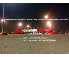Chinaheavylift Manufacture 500 Ton Goldhofer Type Modular Trailer And High Girder Bridge