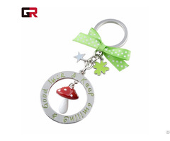 New Style Silver Plating Customized Shape Rotating Metal Keychain