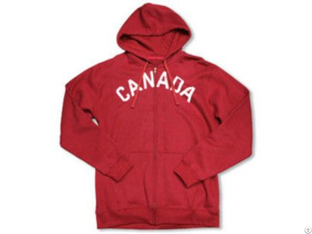 Mens Red Cotton Mix Zip Up Hoody Ss 0253