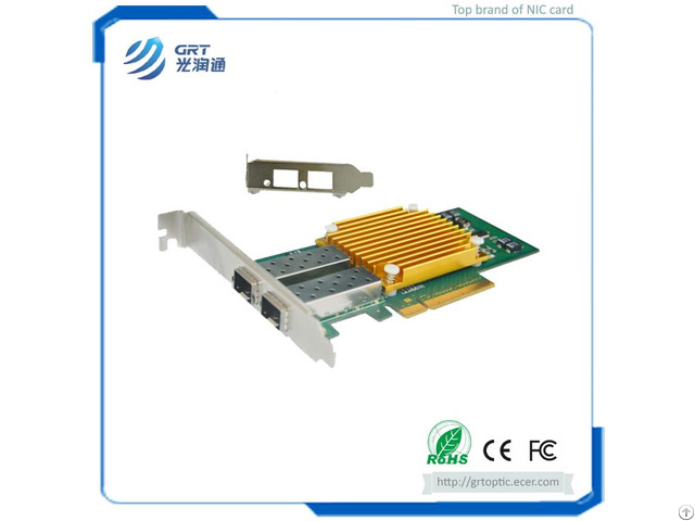 F1002e 10gigabit Intel 82599es Dual Port Fiber Ethernet Pcie Nic Network Server Adapter