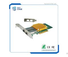 F1002e 10gigabit Intel 82599es Dual Port Fiber Ethernet Pcie Nic Network Server Adapter