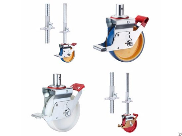 Scaffolding Casters Wheels Adjustable Jack