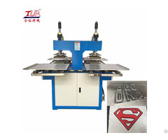 Oil Hydraulic Fabric Patch Embossing Machine Equipment
