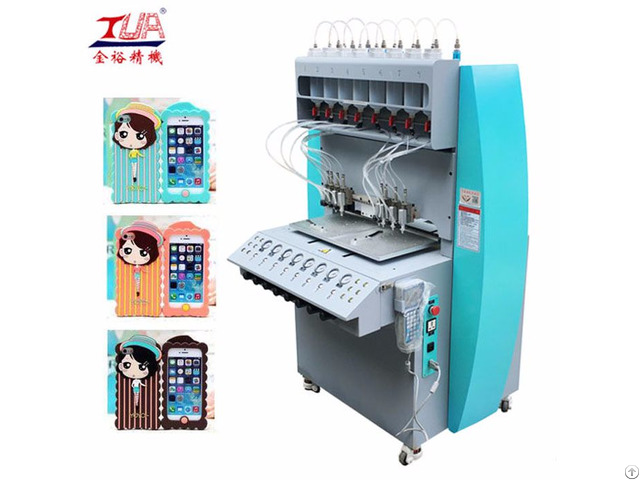 Automatic Plastic Silicone Mobile Phone Case Dispensing Dropping Making Machine Equipment