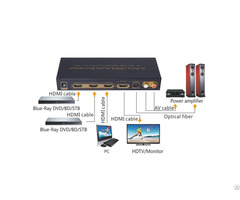 4k Arc Edid Setting 5 1ch 3 Port Hdmi Audio Extractor
