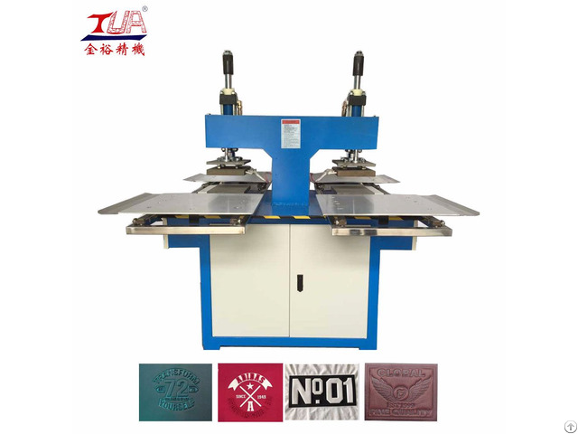 Two Heads Auto Leather Labels Embossed Machine Equipment