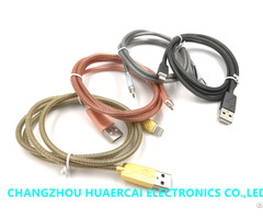 Hot Selling Wholesale Colorful Fishnet Cable 8 Pin Metal Connector For Iphone
