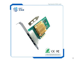 F902t Pcie 1g Gigabit 2 Port Copper Rj45 Intel I350 Chipset Fibre Optic Network Card