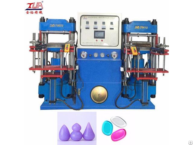Silicone Powder Puff Hydraulic Machine