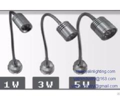 Adjustable 1w 3w 5w Led Cabinet Lights Hotel Wall Or Desk Spot Lamp