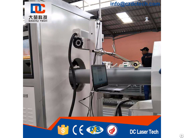 Laser Printing Computer Control System For Pe Pvc Single Pipe Extrusion Line 302