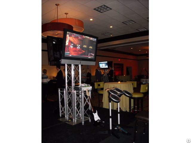 Outdoor Tv Truss Stand For Performance Display