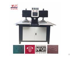 China Fabric Patch Heating Press Embossing Machine