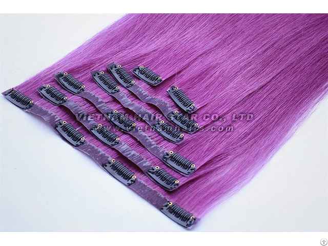 Whosales Pu Clip In Extensions Viet Nam Human Hair Good Price