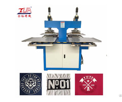 Oil Hydraulic Fabric Patch 3d Logo Embossing Machine