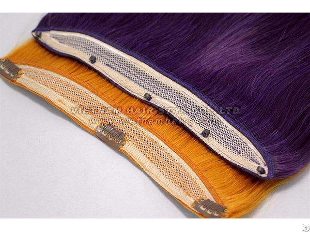 Vietnamese Beaded Weft Human Hair Extensions Good Price