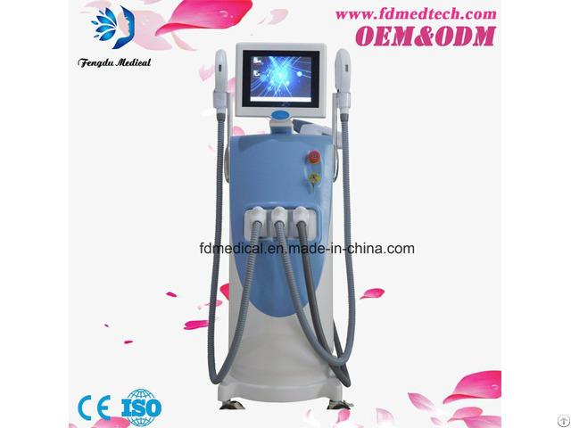 Vertical Multifunctional Shr Opt Ipl Hair Removal Machine