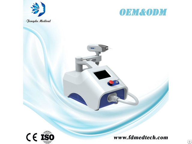 Portable Q Switched Nd Yag Laser Tattoo Removal Beauty Machine