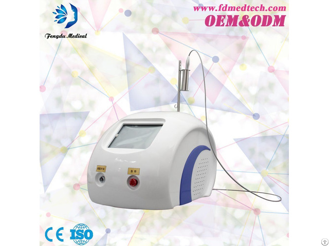 Portable 980nm Diode Laser Vascular Removal Equipment With Ce