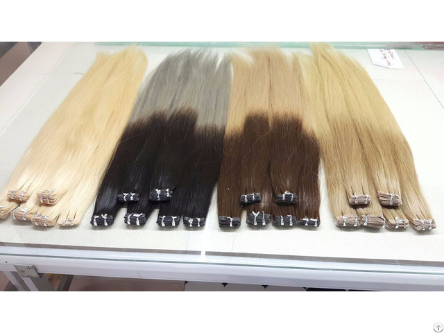 Whosales High Quality Color Pu Tape Human Hair Extensions