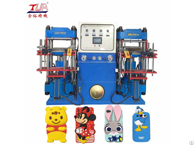 Double Heads Silicone Mobile Phone Case Hydraulic Machine