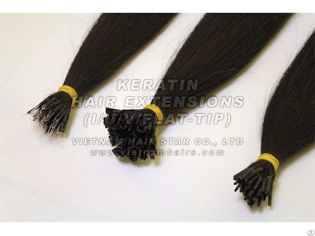 Unprocessed Wholesale Human Vietnam Keratin I Tip Hair Extensions High Quality