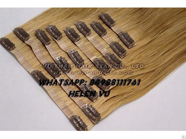 Whosale Full Head Set Clip In Hair Extensions High Quality
