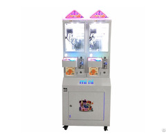 Mini House Doll Gift Vending Machine 2 Players Coin Operated Toy Crane Claw Game