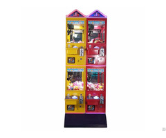 Mini Gift Crane Machine Doll Toy Claw Vending Game For 4 Players