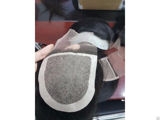 Whosales Silk Base Closure Human Hair Hand Tied High Quality