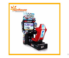 Full Motion 32 Inch Outrun Car Racing Simulator Game Machine