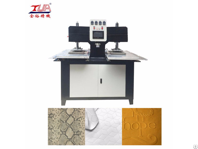 Embossing Pressing Machine For Fabric Label And Logo