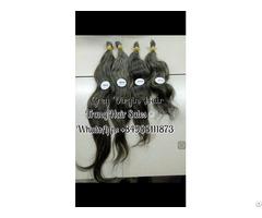 100% Gray Virgin Hair Best Wholesale Price Easily Bleach Or Dye