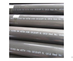 Bevelled Seamless Pipe Carbon Steel 8 Inch 6 Meters