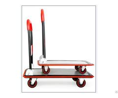 Red Deluxe Platform Trolley