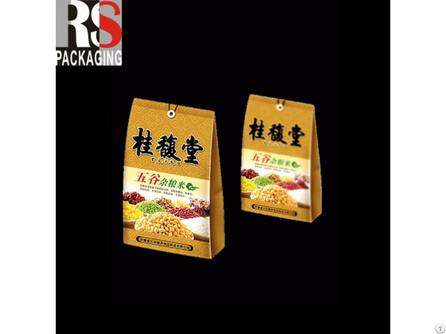Customized Stand Up Pouch Food Bag With Zipper Aluminum Foil Packing