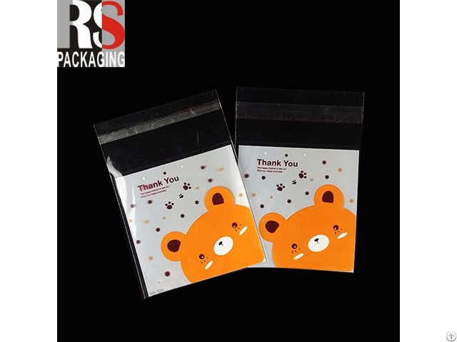 Custom Logo High Quality Wholesale Opp Poly Header Bag With Self Adhesive