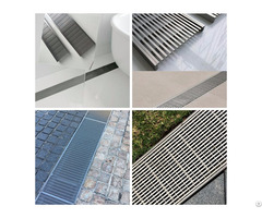 Swimming Pool Stainless Steel Linear Drain Grate With Channel And Comstomized Size