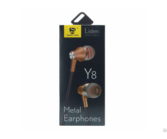 Wired Metal Earphone Y8