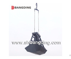 Radio Remote Control Grab Bucket 6 12cbm For Bulk Cargo Unloading