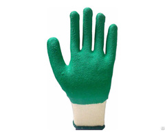 Cotton Liner Crinkle Latex Coated Glove