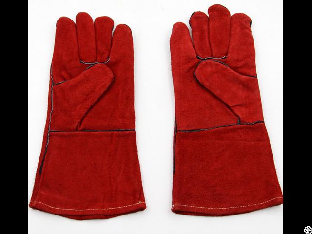 Red Cow Split Leather Welding Glove