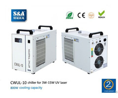 S And A Air Cooled Water Chiller Cwul 10 For 3w 15w Uv Laser